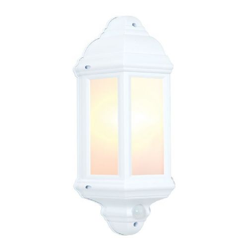 Matt white textured & frosted Polycarbonate PIR Sensor Light BX64665-17 by Endon (Double Insulated)